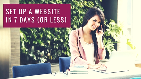 How to set up a Website in 7 days